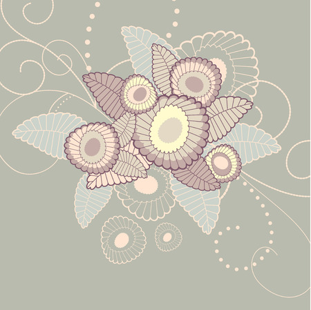 Cute floral background with free place for your text Stock Vector - 6762829