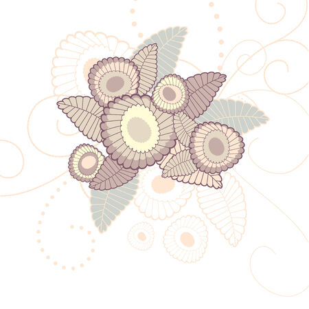 Cute floral background, illustration Stock Vector - 6762827