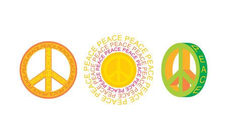 set of  peace symbols Stock Vector - 6762712