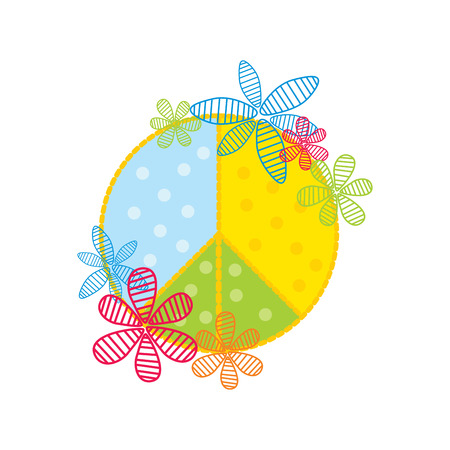 stylized peace symbol  illustration Vector