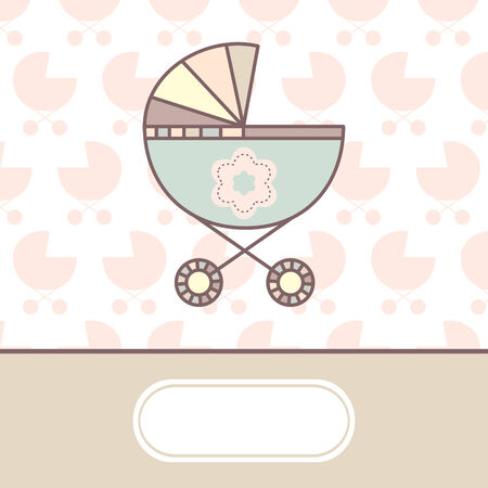 cradle: baby arrival card with cradle