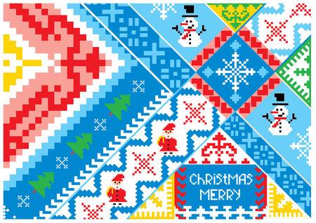 artistic christmas card Vector