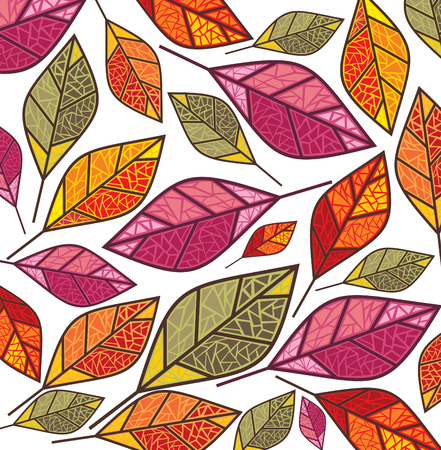 fallow: autumn background with colorful leaves