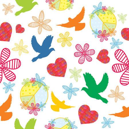 peace graphics: peace, seamless background,  illustration Illustration