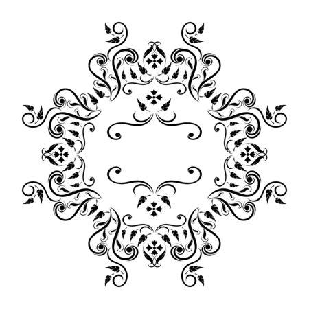royal floral frame illustration Stock Vector - 6774044