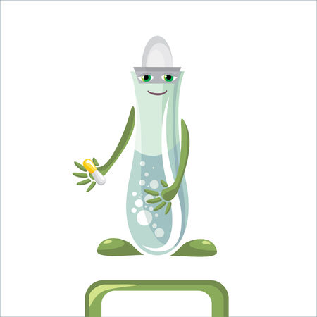 cartoon medical flask illustration Stock Vector - 6773933