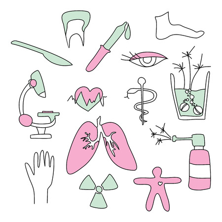 collection of medical signs Stock Vector - 6773936