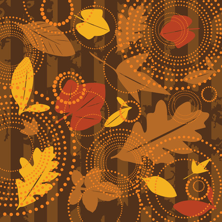 broun: seamless autumn background illustration