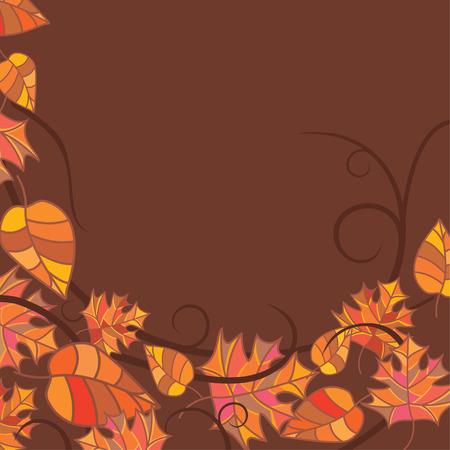 fallow: abstract autumn frame illustration