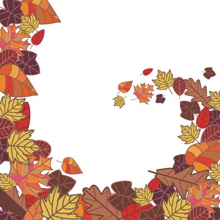 abstract autumn frame illustration