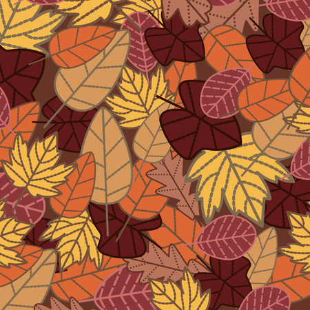 botanic: abstract autumn background  illustration Illustration