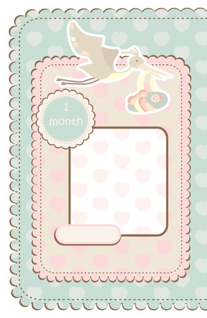 baby frame with place for your picture Vector