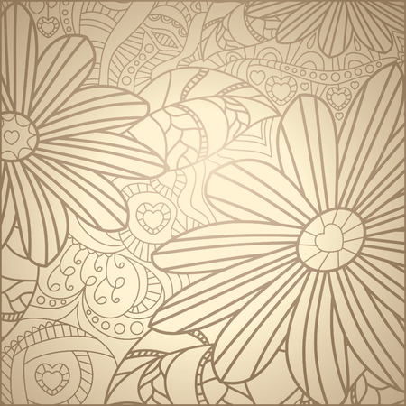 classical style: cute floral pattern illustration Illustration