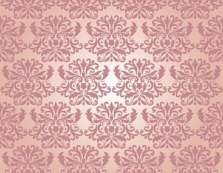 Seamless damask pattern,  illustration Vector