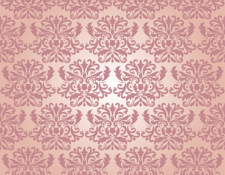 rococo style: Seamless damask pattern,  illustration