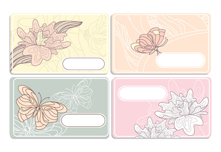 florish: set of cute business cards