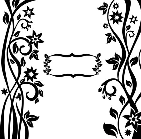abstract floral frame illustration Vector