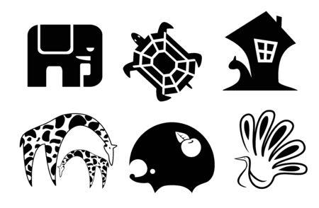 egel: set van dierlijke pictogrammen
