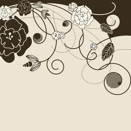 stylish background with various flowers illustration Vector