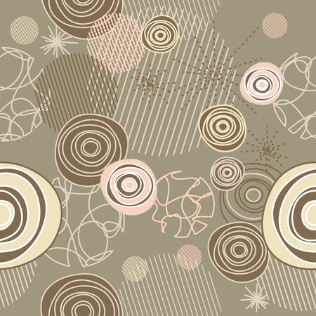 cute seamless background with circles illustration Vector