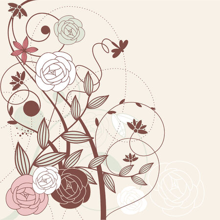 cute graphic: abstract cute floral background with flowers Illustration