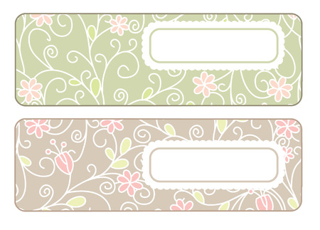 cute banners with free place for your text Stock Vector - 6855993