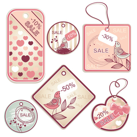 womanly: set of different discount tags