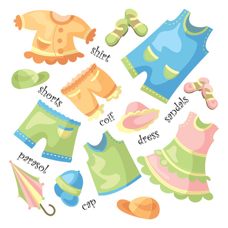 set of baby clothing and accessories