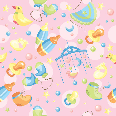 babywear: abstract seamless cute baby background  Illustration