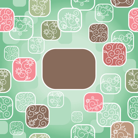 abstract cute background with free place for your text Stock Vector - 7404280
