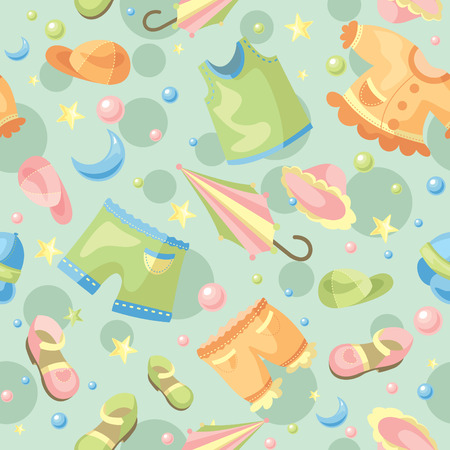 babywear: abstract cute seamless baby background