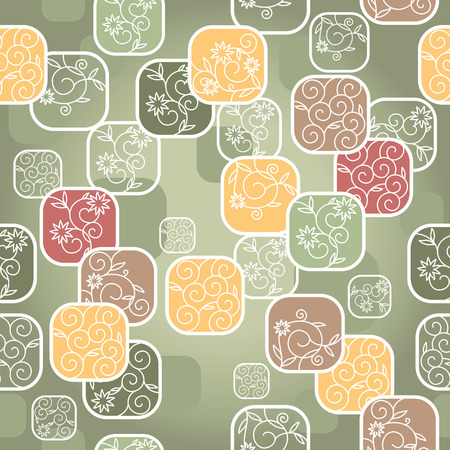 seamless abstract cute floral background  Illustration