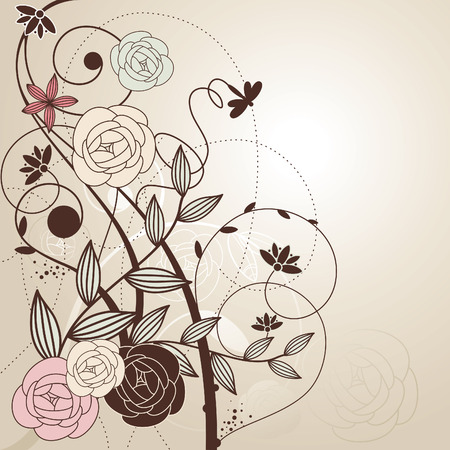 abstract cute floral background   Vector