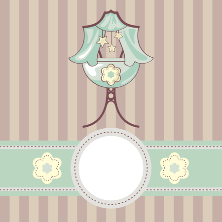 abstract cute baby background with cradle