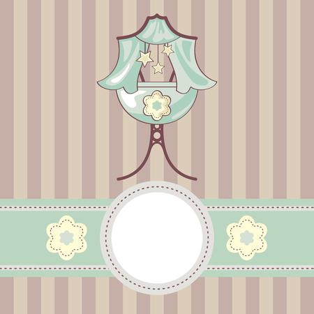Fondo de bebé cute abstracto con cuna