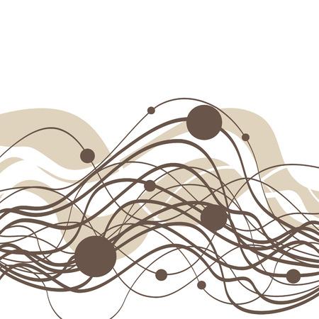 abstract smoke: Fondo abstracto con olas y c�rculos  Vectores
