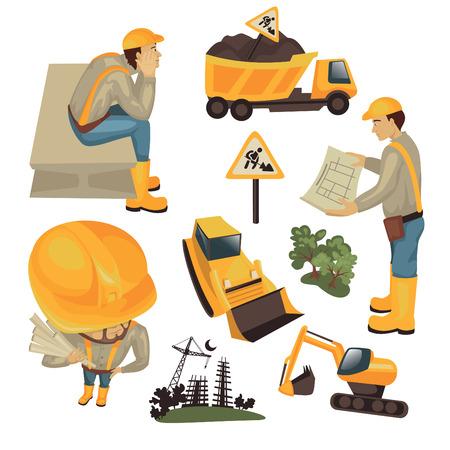 construction paper art: construction set illustration isolated on white