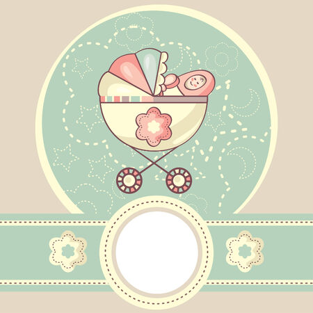 cradle: abstract baby background with cradle illustration Illustration