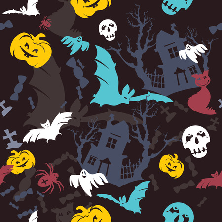 abstract seamless  Halloween background Stock Vector - 7920109
