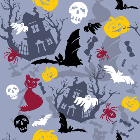 abstract   seamless Halloween background Vector