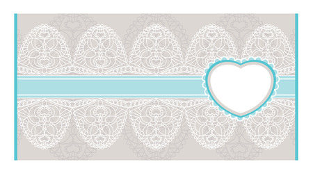 abstract lacy envelope with heart Vector