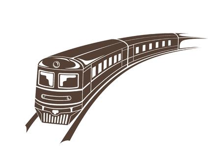 modern train simple   illustration Illustration