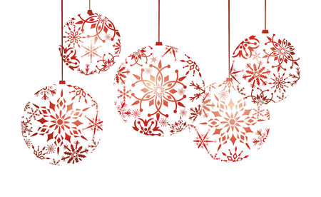 snow ball: abstract christmas background