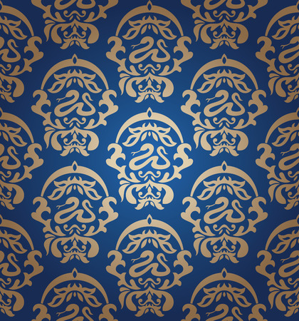 abstract seamless damask wallpaper Vector