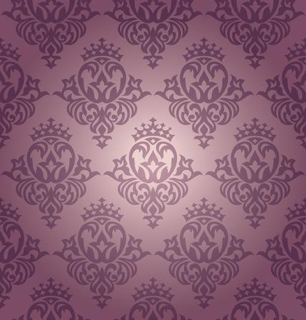 abstract seamless damask wallpaper Stock Vector - 8387239