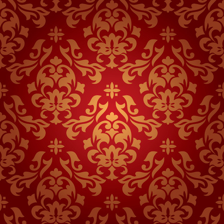 abstract seamless damask wallpaper vector illustration Stock Vector - 8435583