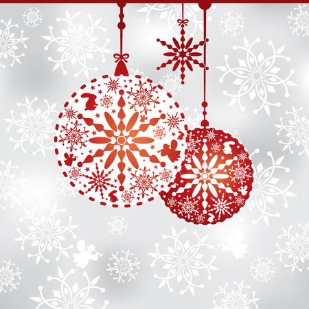abstract Christmas background vector illustration Stock Vector - 8435592