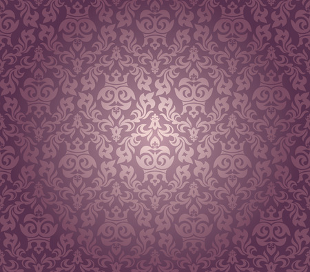 abstract seamless damask wallpaper vector illustration Stock Vector - 8505287