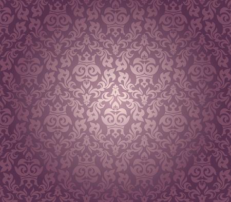 abstract seamless damask wallpaper vector illustration Stock Vector - 8505287