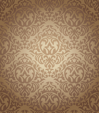 abstract seamless damask wallpaper vector illustration Vector
